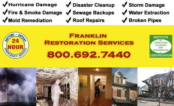 franklin fire flood storm damage cleanup