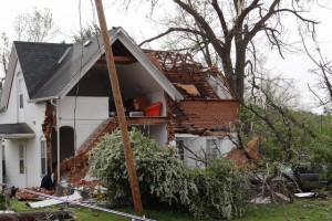tornado damage cleanup